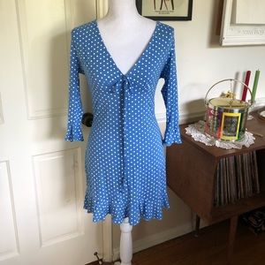 Sz 10 Misguided Polka Dot Tea Dress